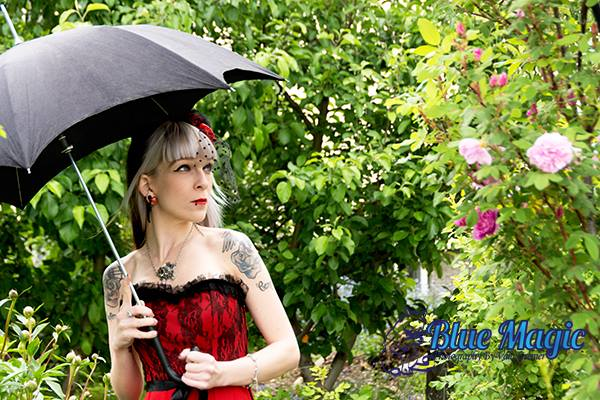 Female model photo shoot of Valkyrie Smith in Blue Magic Studios - Backyard