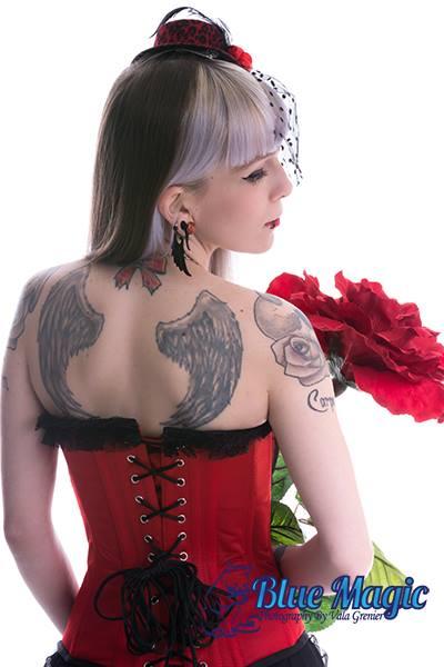 Female model photo shoot of Valkyrie Smith in Blue Magic Studios