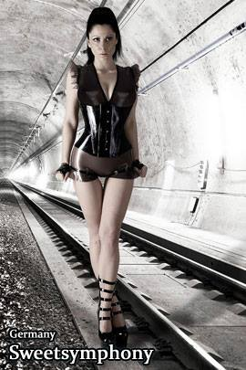 Female model photo shoot of sweetsymphony in Underground