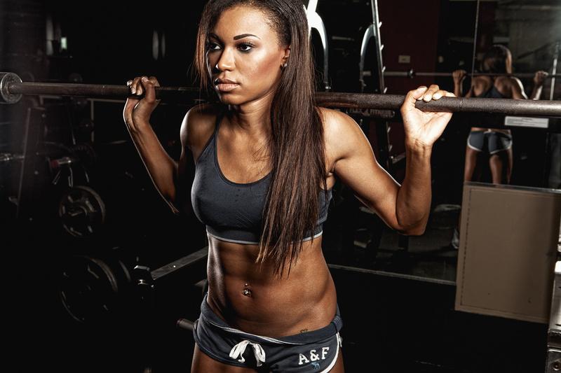 Female model photo shoot of Regine in Golds Gym Whippany NJ