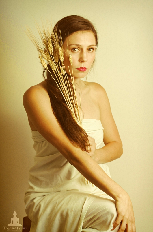Male and Female model photo shoot of KonstantKarma and Candice Corbin in Home Studio