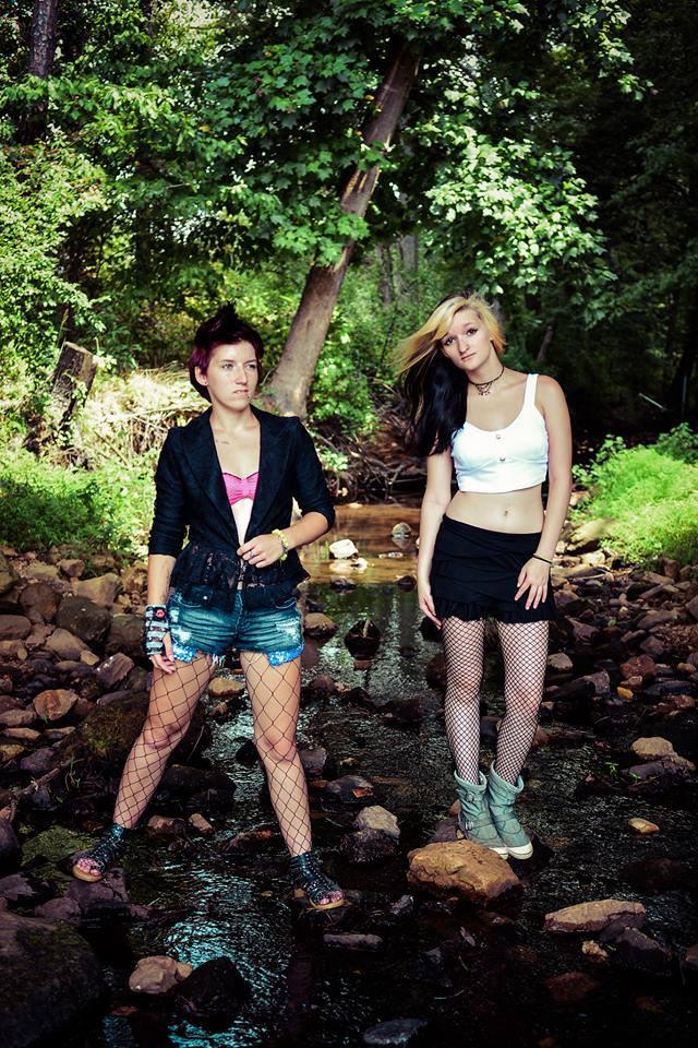 Female model photo shoot of Alyssa Podaras and Jessica Inkd by Lone Wolf Studios
