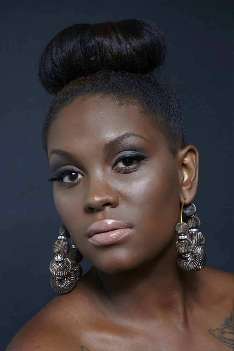 Female model photo shoot of Nana Cee in Make Up Forever Academy in NYC