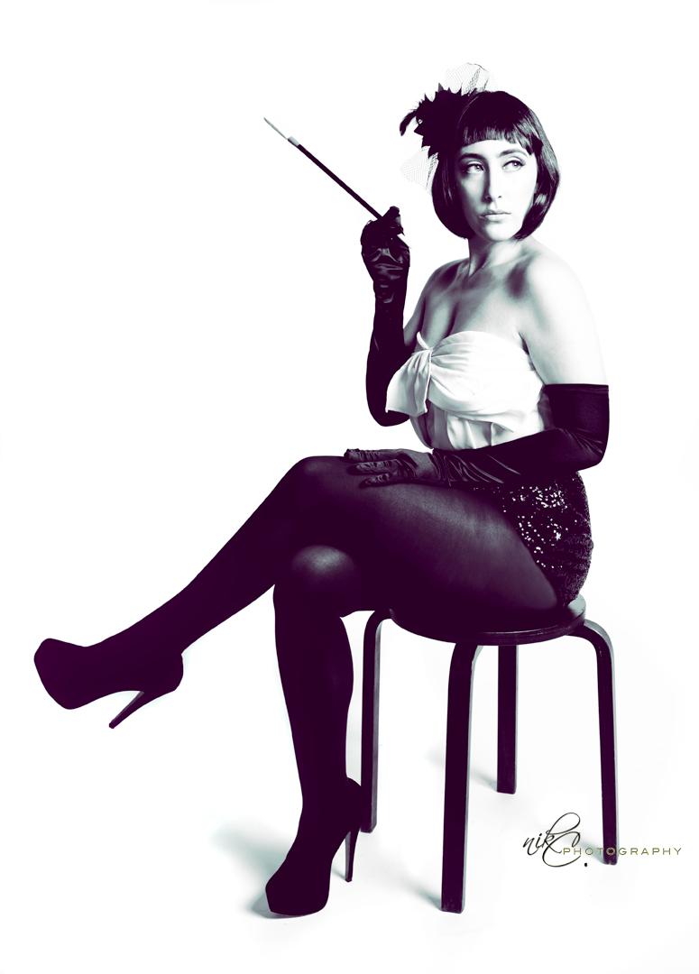 Female model photo shoot of niK C Photography in My Studio