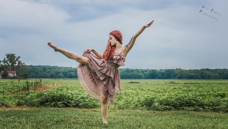 Female model photo shoot of AprilEileen Photography in Fredericksburg VA Slaughter Penn Farm