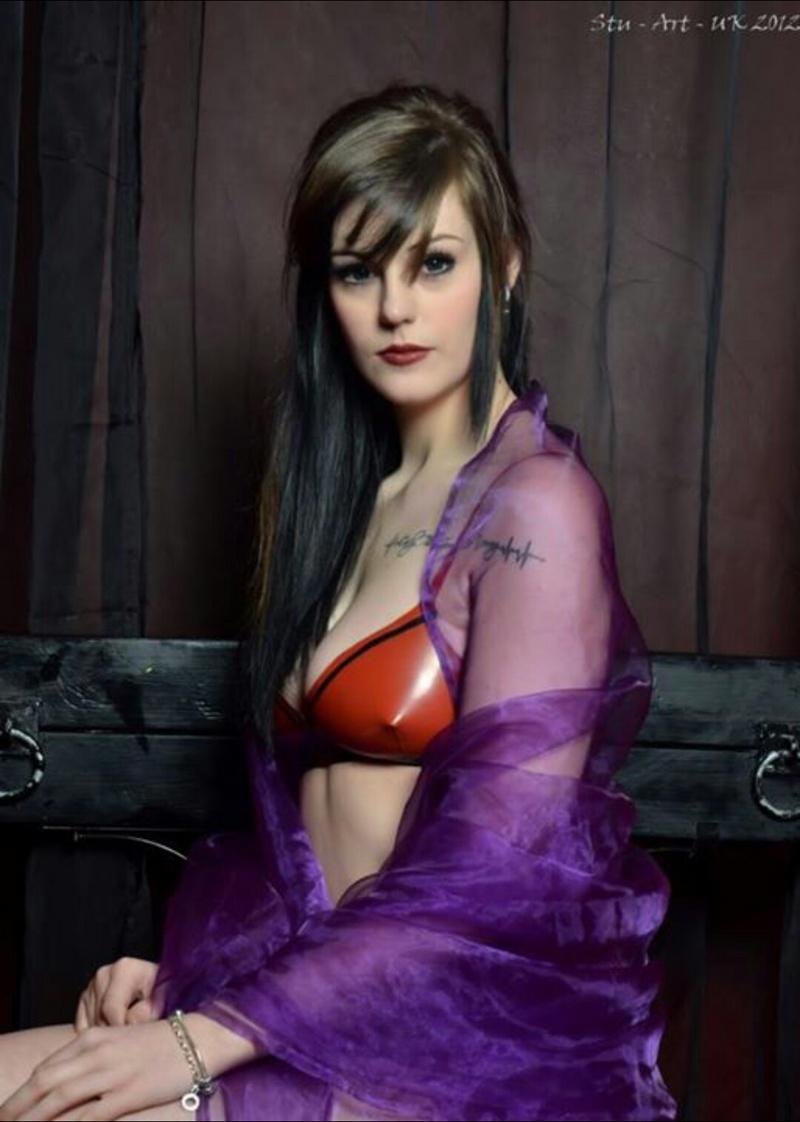 Female model photo shoot of StarBuck in Murder Mile Studio