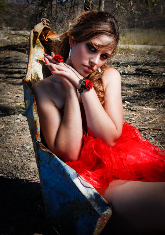 Female model photo shoot of Eliz Rose in Scary Dairy