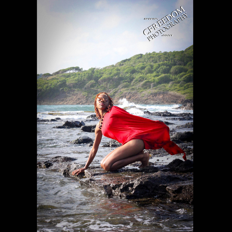 Female model photo shoot of CFreedom Photography in Cas en Bae, St. Lucia