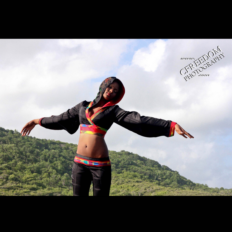 Female model photo shoot of CFreedom Photography in Cas en Bae Beach, St Lucia