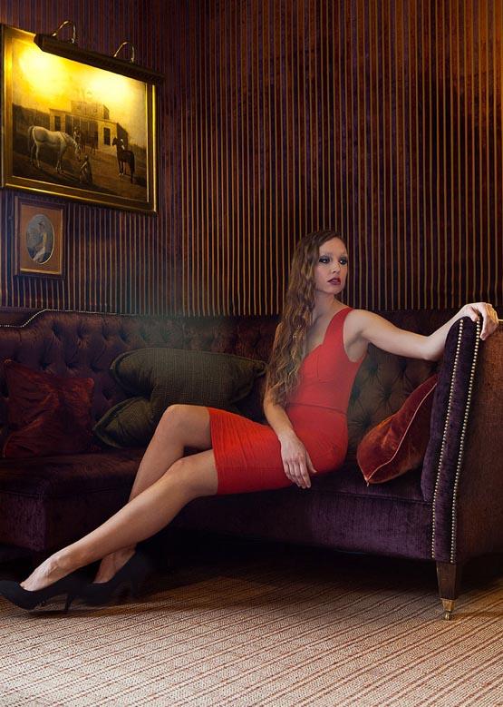 Female model photo shoot of Cat Ferrier Photography in Prestonfield House