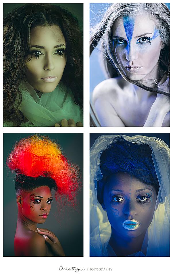 Male and Female model photo shoot of Chris Malpass Photo, Lianne H, Elisa Mog, Hiesha Nicole and Soliel Paden, hair styled by DOMDOESHAIR