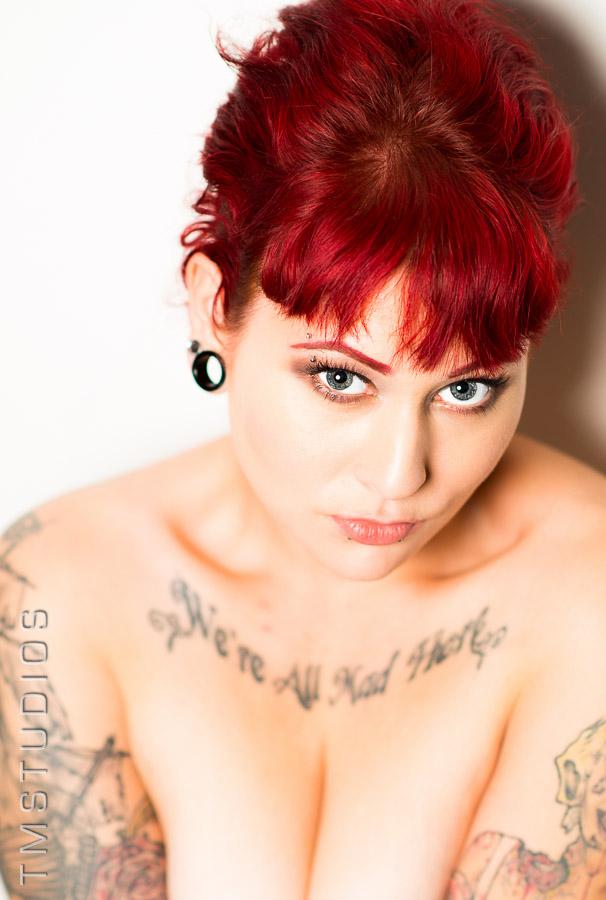 Female model photo shoot of Kadie Spyce by TimMcGillPhotography, wardrobe styled by Tamakhi, makeup by Vanessa Agostino