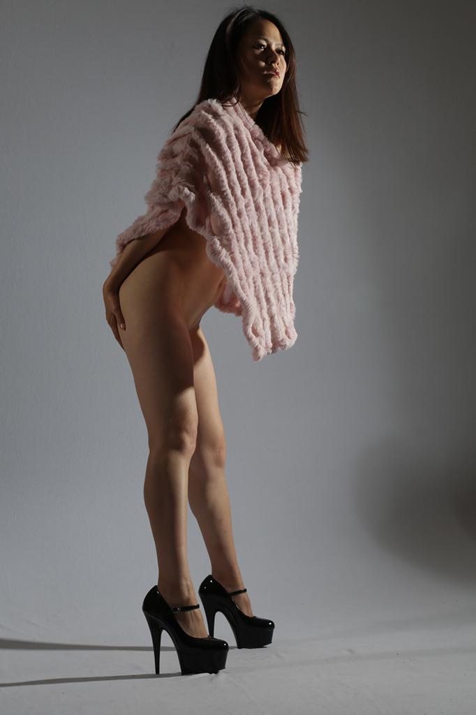 Female model photo shoot of Rosemary 2013 by yann feron studio in Manhattan. New York