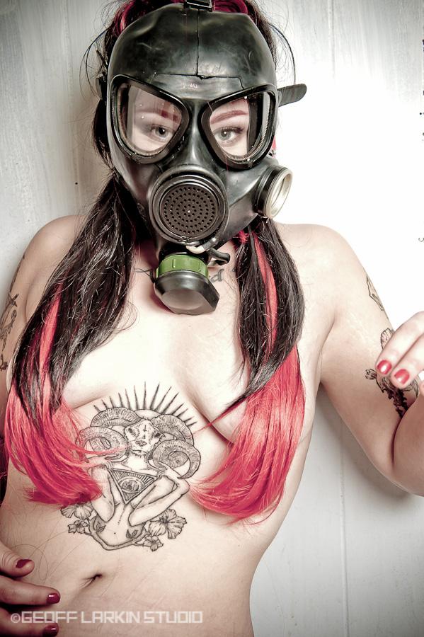 Female model photo shoot of Kadie Spyce by Geoff Larkin Studio, wardrobe styled by Tamakhi, makeup by Vanessa Agostino