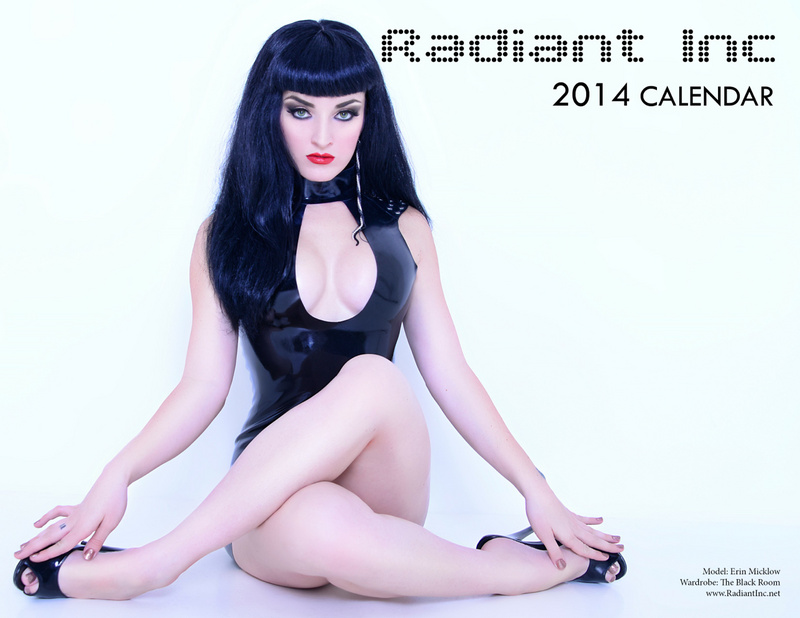 Las Vegas, NV Nov 26, 2013 Radiant Inc 2014 Calendar Cover. Model/Makeup/Hair: Erin Micklow, Photo: Radiant Inc, Latex: The Black Room