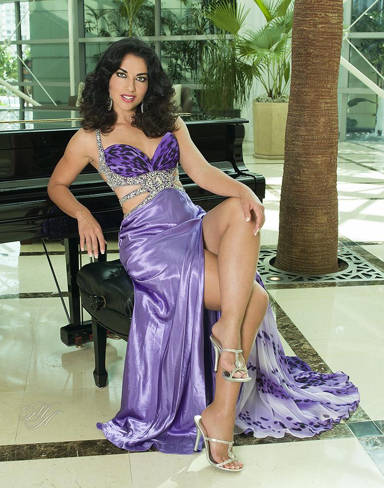 Hotel Lobby Ft.Lauderdale Nov 28, 2013 Michael Anthony Glamour Jackie Stevens Jovani Dress