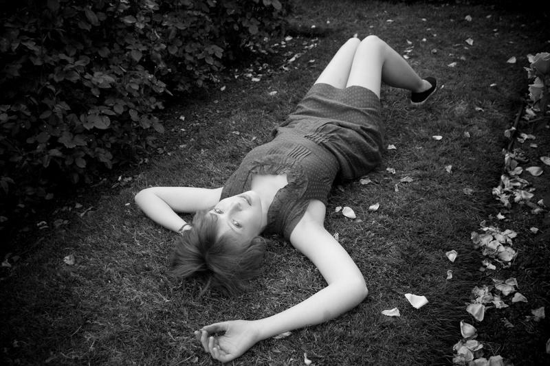Female model photo shoot of _sarah christine_ in International Rose Test Garden - Portland, OR