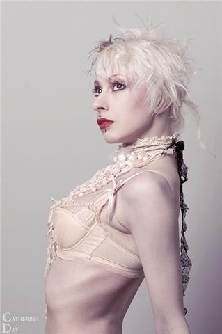 Female model photo shoot of Maleficent Martini