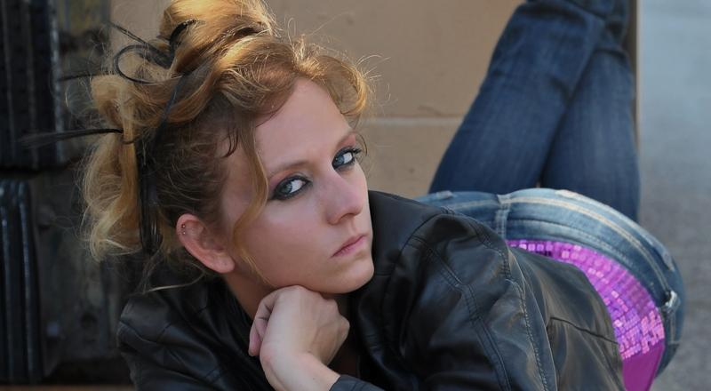 Female model photo shoot of 13stacey13 by Anchor Photo in alley