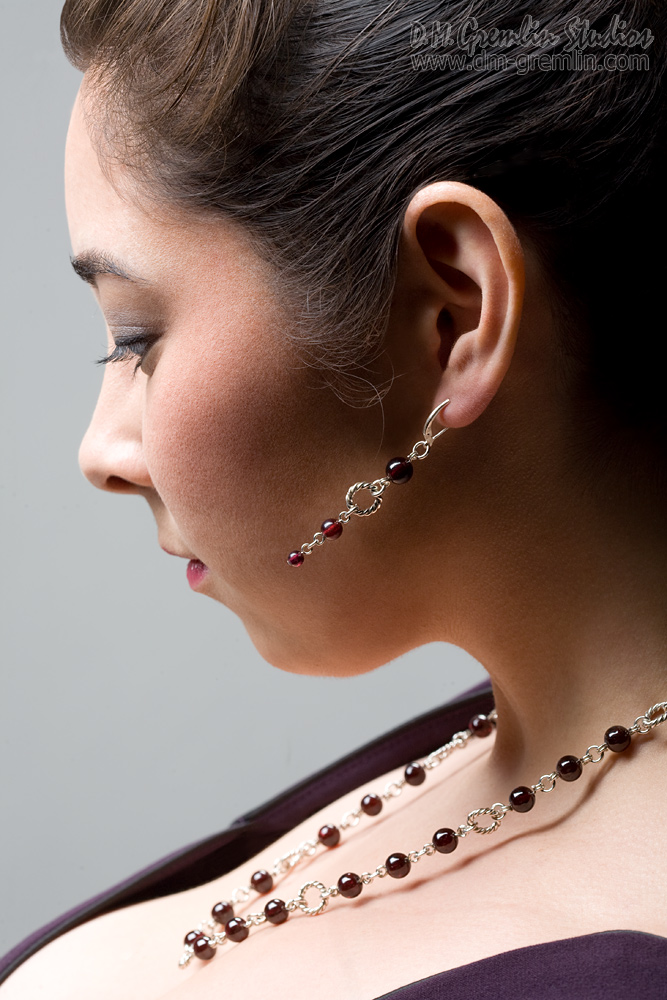 Studio B, D. M. Gremlin Studios, Long Beach CA Dec 03, 2013 2013 D. M. Gremlin Studios Jewelry catalog shoot for HuiHui Designs. Model: Allison Okihiro; MUAH: Cristina Garcia; Jewelry: Hui L. Rorabaugh
