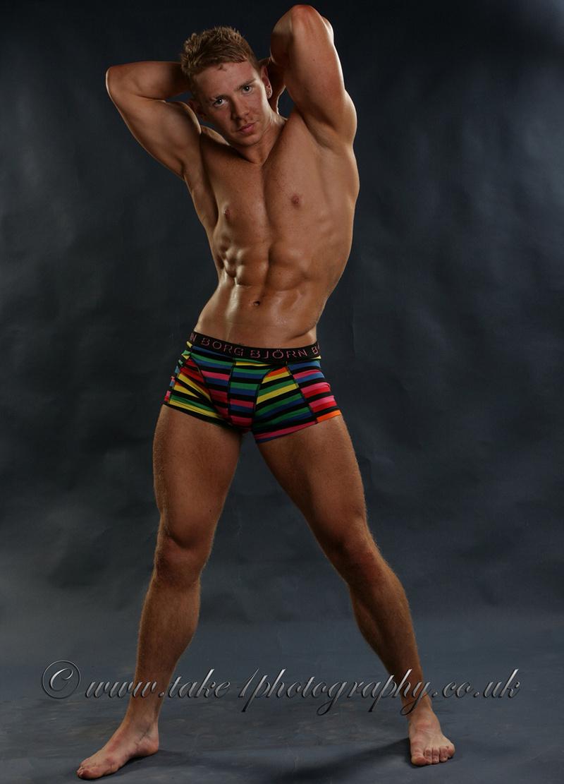 Edinburgh Dec 04, 2013 Model Ricky Pryde - Brian Richmond photographer Underwear pose