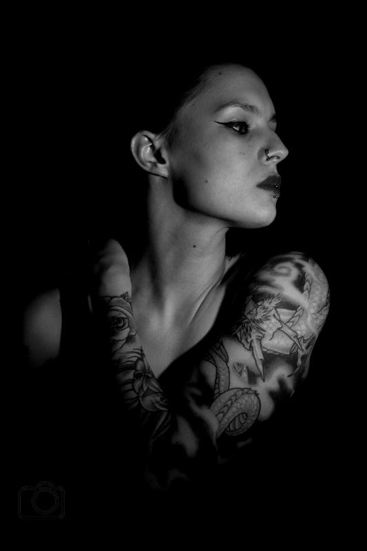 Male and Female model photo shoot of E Steele Photography  and Amanda Bukrim