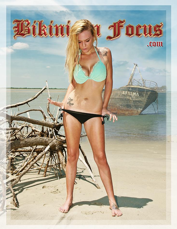 Private SC Beach Dec 17, 2013 Bikini In Focus.com Model Elizabeth Kingg