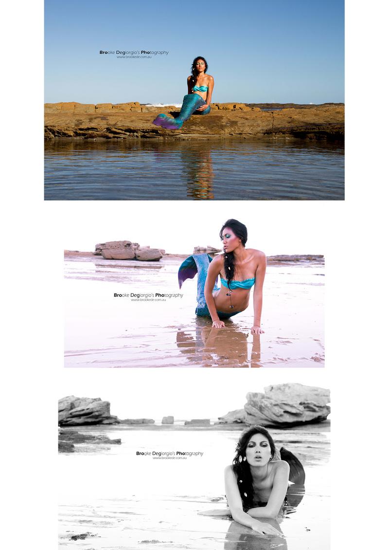 Female model photo shoot of Brooke Degiorgio and SaloteFinau in Beach, makeup by Kate Bonar