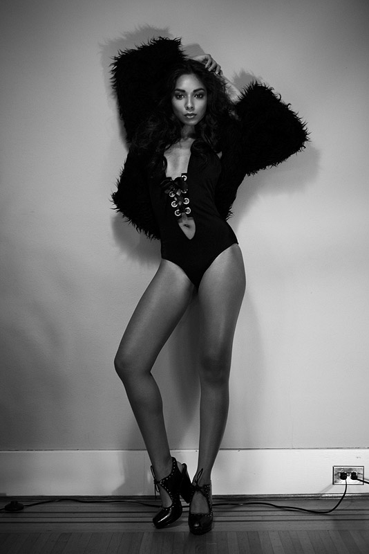 Female model photo shoot of Shazmin Hussein by -Fred-, makeup by Liz Dungate
