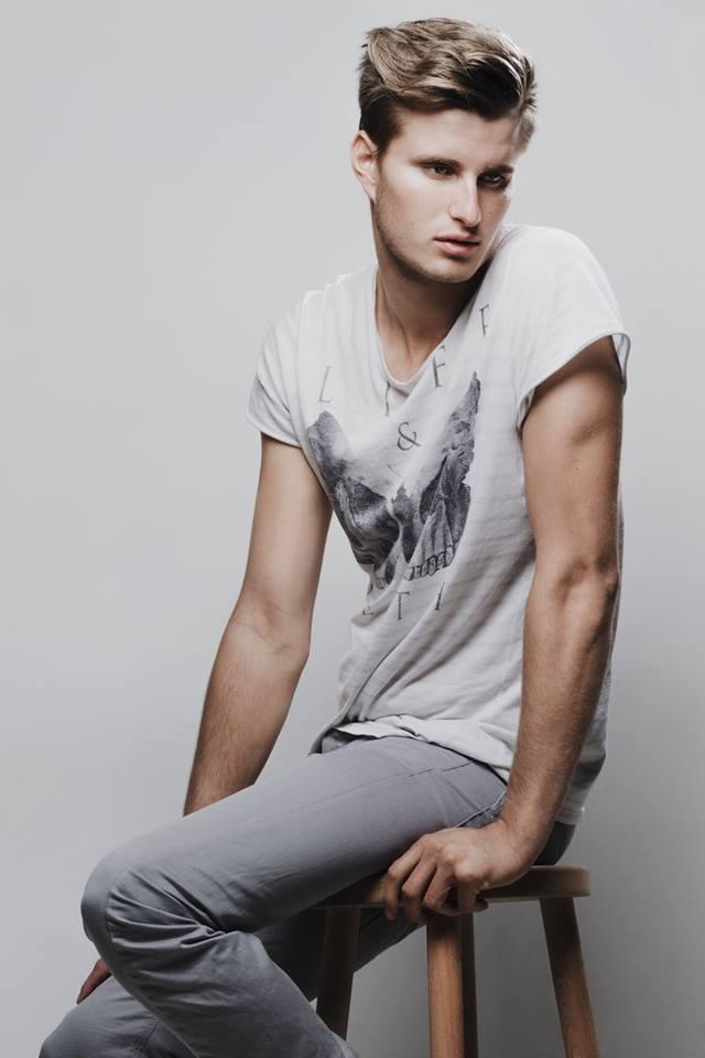 Male model photo shoot of mat baker