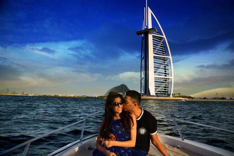 Dubai Marina  Jan 05, 2014 S S FASHION PHOTOGRAPHY Vijay-Ruhi with BurjAlArab