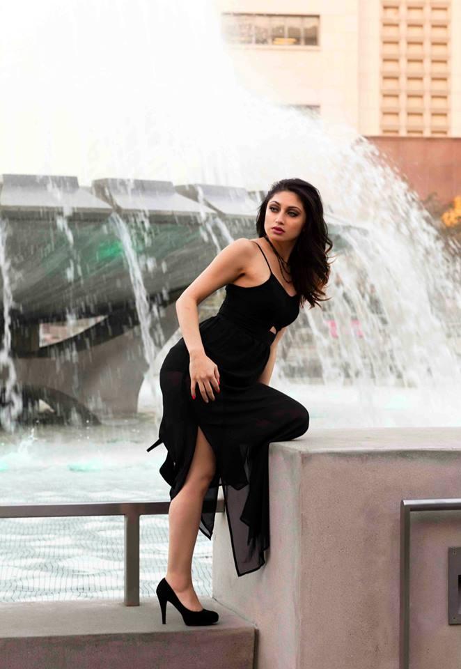 Female model photo shoot of Fanny Jimenez in Grand Park LA