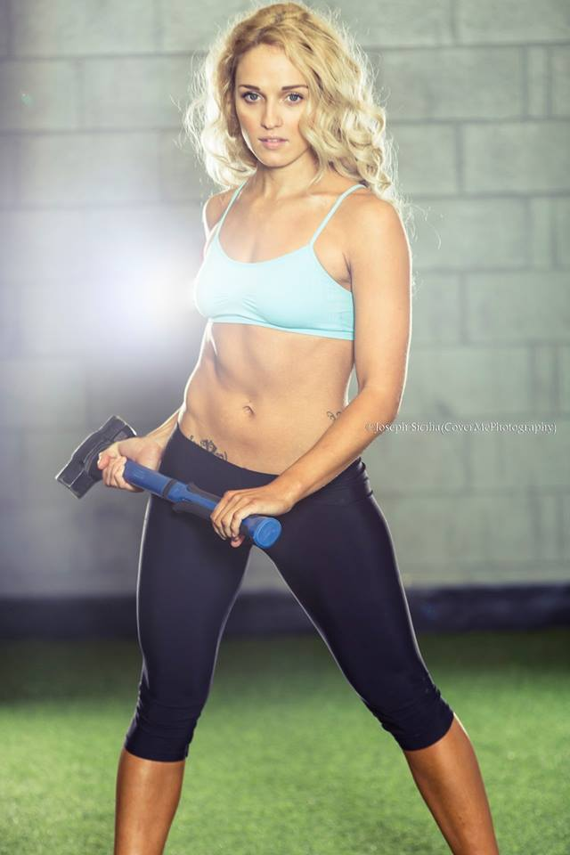Female model photo shoot of Chels Moore by CoverMePhotography in Powerhouse Training Systems, London, ON