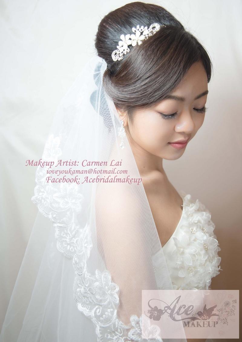 Female model photo shoot of Carmen Lai in makeup and hair artist carmen lai