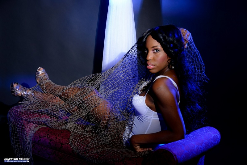 Female model photo shoot of Cokochanel by HONEYGO STUDIO