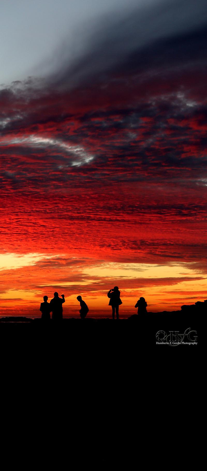 San Pedro, CA Feb 02, 2014 2014 HFG Photography A Beautiful Sunset on 01/19/2014 at San Pedro, CA.