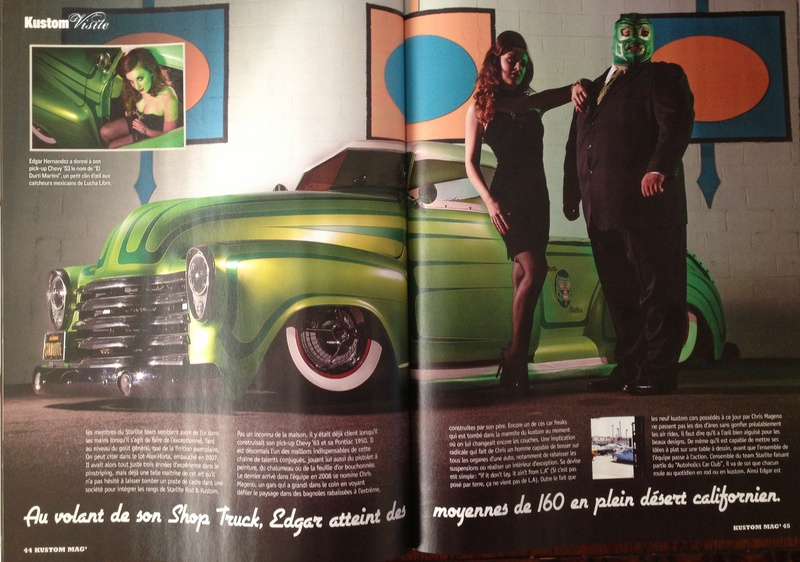 Feb 18, 2014 2 page feature in Kustom (FRANCE) | Photos: Tim Sutton | Model/Makeup/Hair/Wardrobe Styling: Erin Micklow