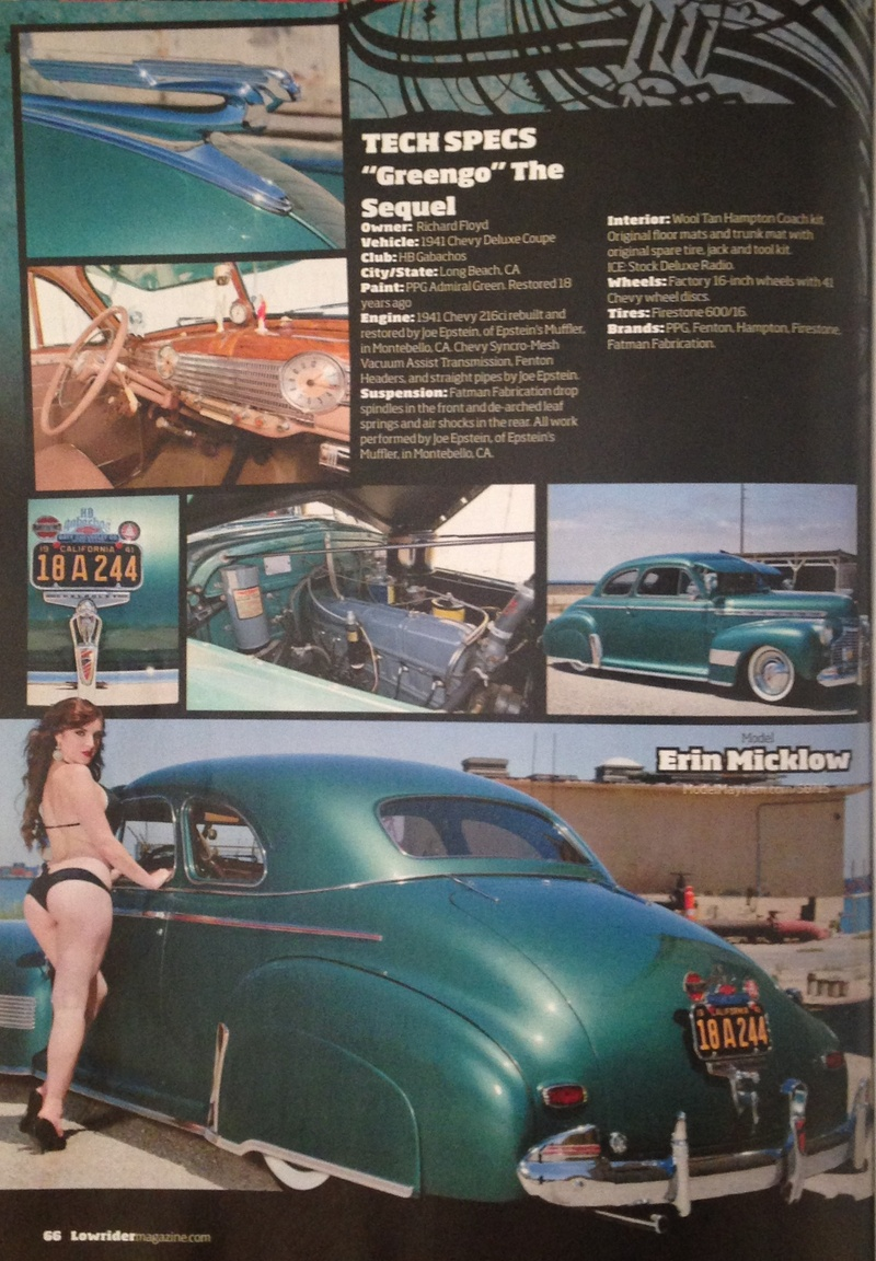 Feb 18, 2014 Feature in Lowrider Magazine March 2013 | Photos: Jae Bueno | Model/Makeup/Hair/Wardrobe Styling: Erin Micklow