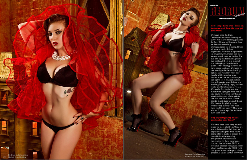 Feb 18, 2014 2 page feature in Vicious Bettys Issue #6 | Photos: Redrum Collaboration | Model/Makeup/Wardrobe Styling: Erin Micklow | Hair: Carmela Melecio, Retro-dos