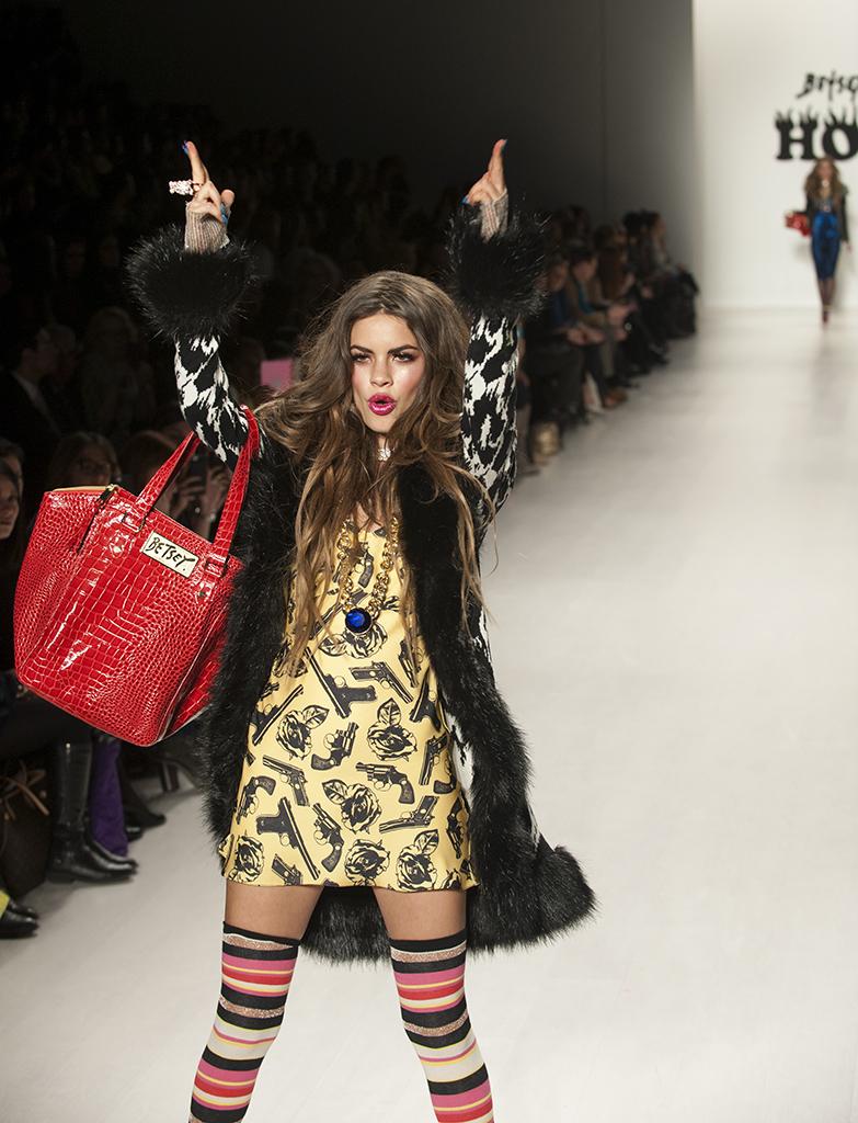 NYC Feb 19, 2014 Bruce Herlitschek The Art of Imagings Fashion Week winter 2014 Betsey Johnson Fashion Show