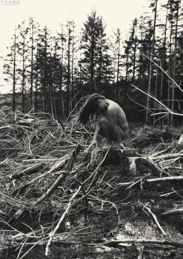 Female model photo shoot of Lareina Slight in Wicklow Mountains. Ireland