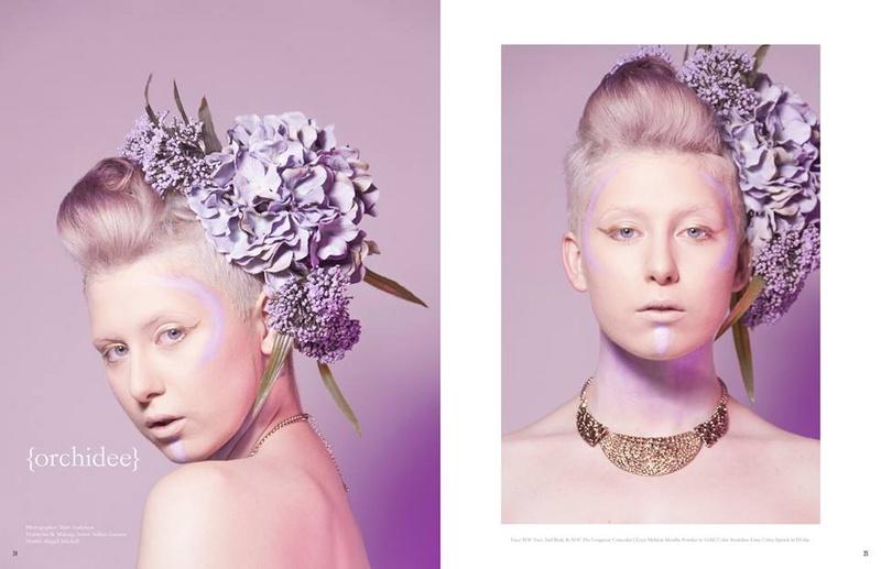 Female model photo shoot of Ashley Gannon - Makeup and - Abigail - by A N D E R S O N in Wonderland Studios - Anaheim, CA, hair styled by Ashley Gannon - Hair, makeup by Ashley Gannon - Makeup