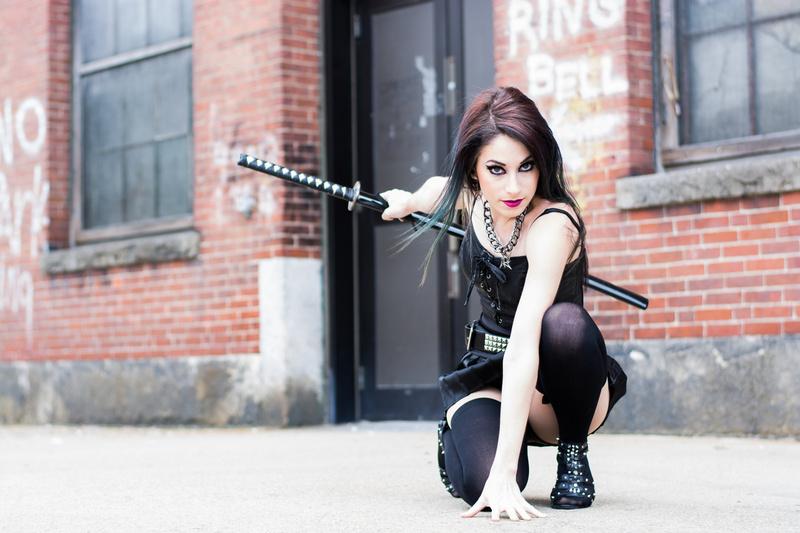 Female model photo shoot of Amelia Wolfe by TripleSkull Photography
