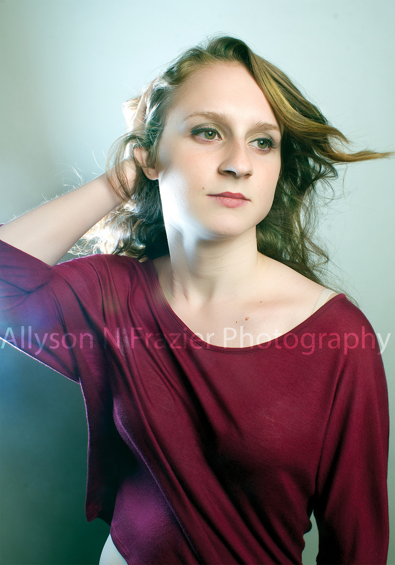 Female model photo shoot of Allyson N Frazier in Personal Apartment Studio