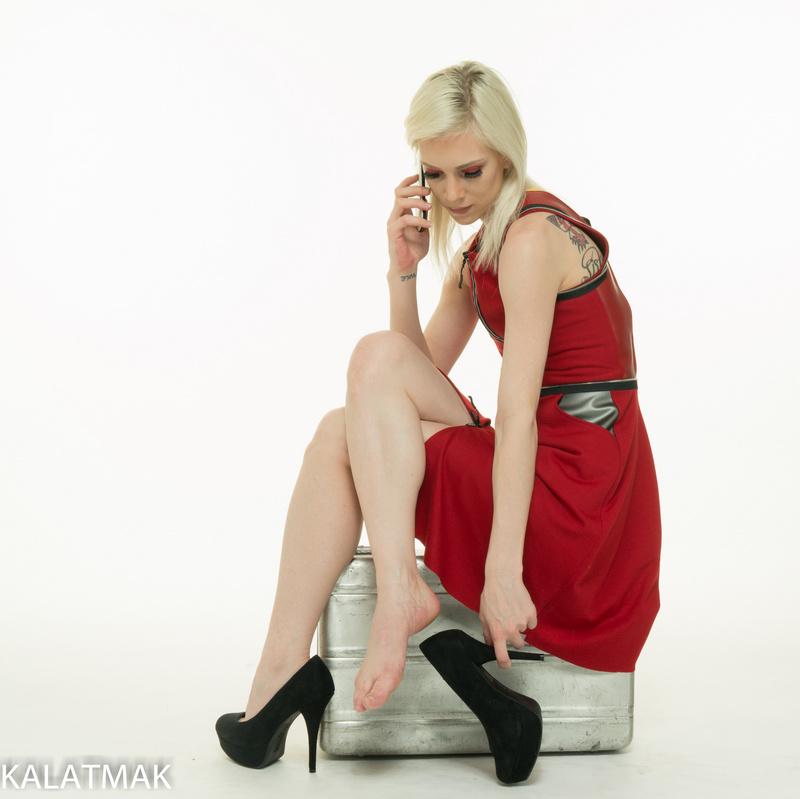 Male and Female model photo shoot of KALATMAK and Elle Blonde