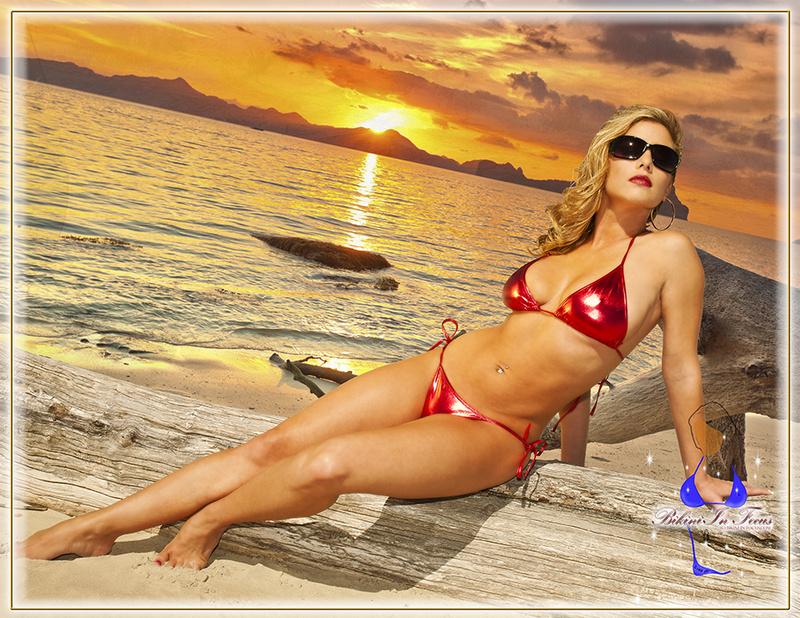 Sunny Beach May 13, 2014 (c) Decerto Photography, LLC.; (c) Bikini In Focus.com Evening Sunset