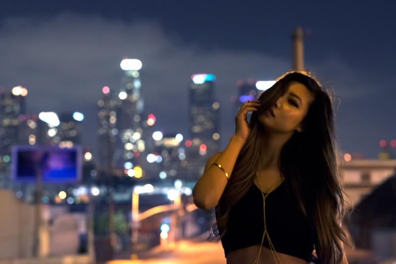 Female model photo shoot of L A N I by skottkhuu in dtla