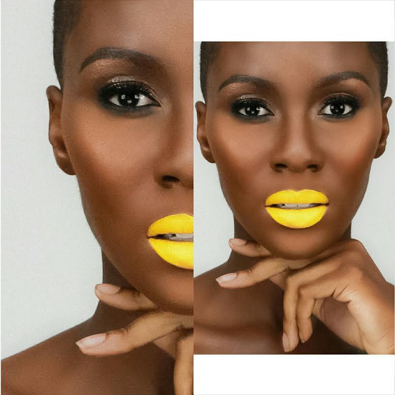 Female model photo shoot of GlamRoq Artistry