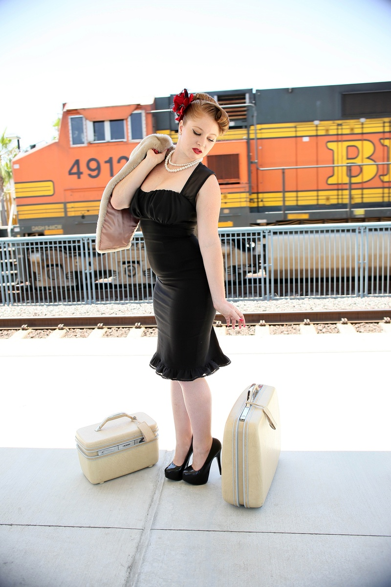 Female model photo shoot of Rosy Rumble in Buena Park Metro Station