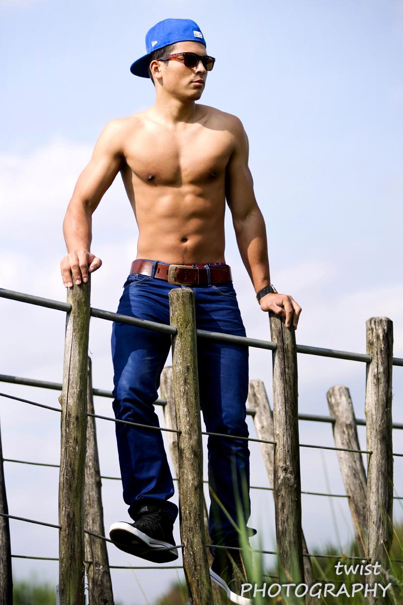 Male model photo shoot of Miguel Omari in Flanders